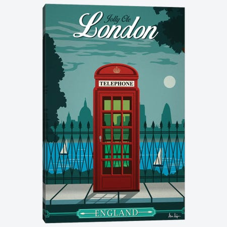 London Canvas Print #IDS19} by IdeaStorm Studios Art Print