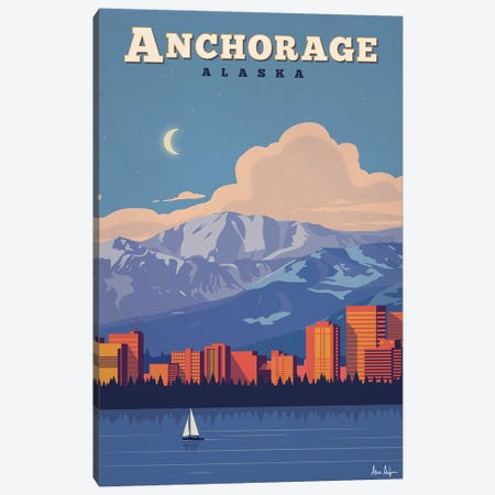 Anchorage Canvas Print #IDS1} by IdeaStorm Studios Art Print