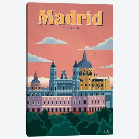 Madrid Canvas Print #IDS21} by IdeaStorm Studios Canvas Wall Art