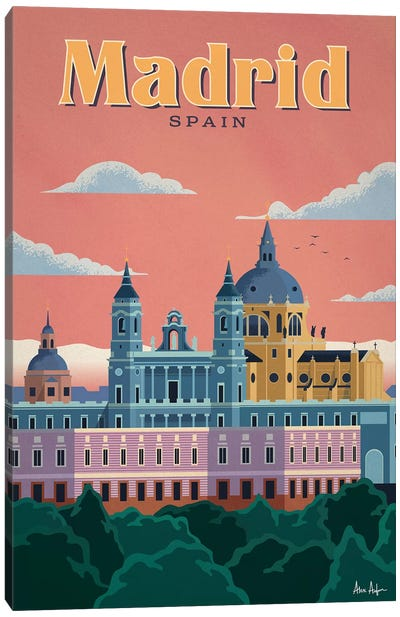 Madrid Canvas Art Print