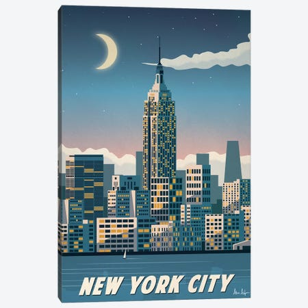 New York City  Canvas Print #IDS23} by IdeaStorm Studios Canvas Artwork