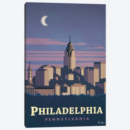 Philadelphia Canvas Print #IDS24} by IdeaStorm Studios Art Print
