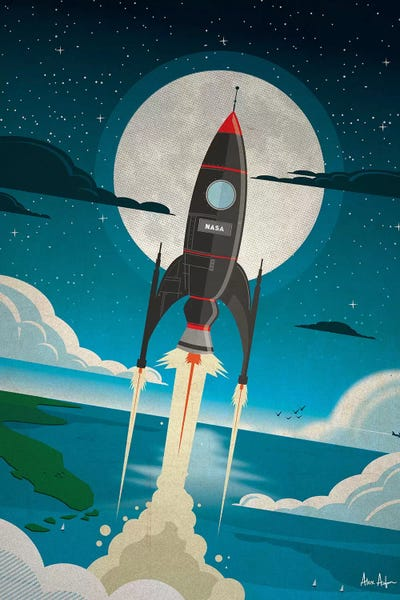 Canvas Wrap Print A Boy and His Rocket