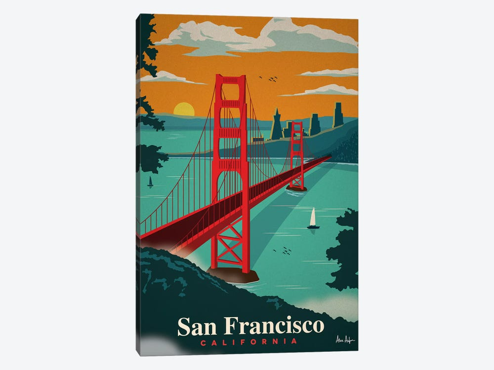 San Francisco by IdeaStorm Studios 1-piece Canvas Art Print