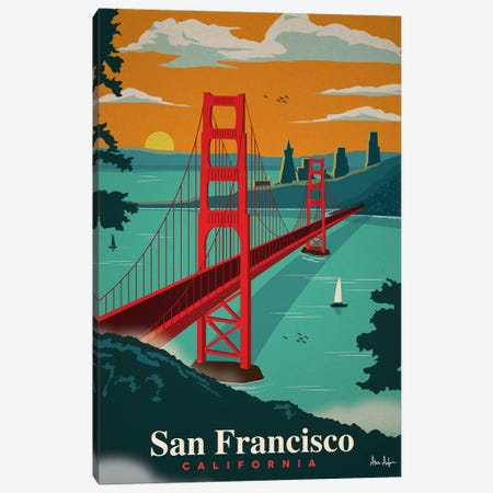 San Francisco Canvas Print #IDS27} by IdeaStorm Studios Art Print