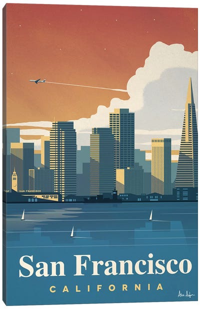 San Francisco Skyline Canvas Art Print
