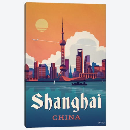 Shanghai Canvas Print #IDS29} by IdeaStorm Studios Canvas Artwork