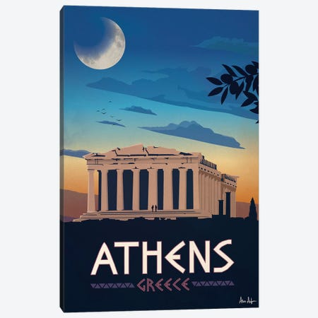 Athens Canvas Print #IDS2} by IdeaStorm Studios Art Print