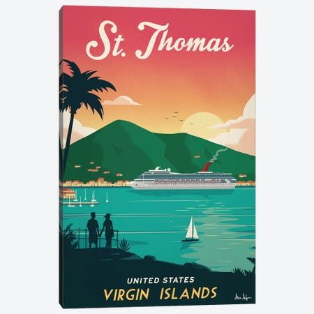 St. Thomas Canvas Print #IDS30} by IdeaStorm Studios Art Print