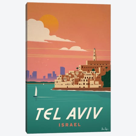 Tel Aviv Canvas Print #IDS33} by IdeaStorm Studios Canvas Art Print