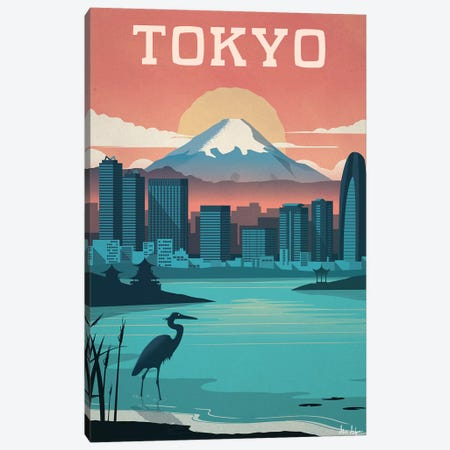 Tokyo Canvas Print #IDS34} by IdeaStorm Studios Canvas Artwork