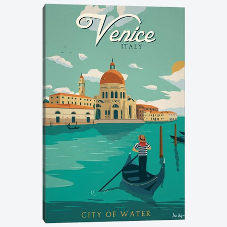 Venice Canvas Print #IDS35} by IdeaStorm Studios Canvas Wall Art