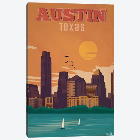 Austin Canvas Print #IDS37} by IdeaStorm Studios Canvas Wall Art