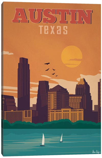 Austin Canvas Art Print