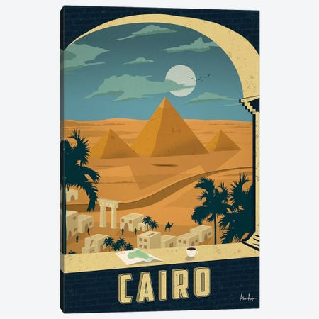 Vintage Cairo Canvas Print #IDS38} by IdeaStorm Studios Canvas Art Print