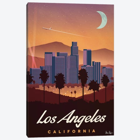 Los Angeles Canvas Print #IDS39} by IdeaStorm Studios Canvas Art Print