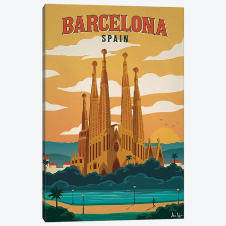 Barcelona Canvas Print #IDS3} by IdeaStorm Studios Canvas Print