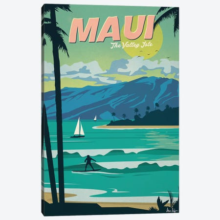 Maui Canvas Print #IDS40} by IdeaStorm Studios Canvas Artwork