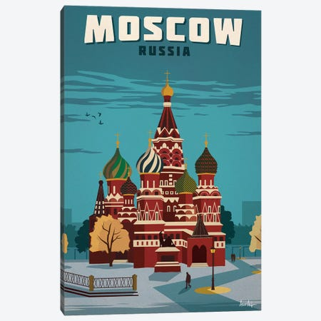 Vintage Moscow Canvas Print #IDS41} by IdeaStorm Studios Canvas Art