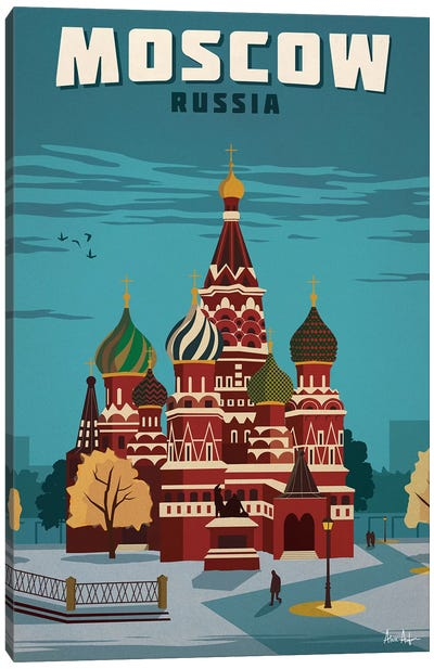 Vintage Moscow Canvas Art Print