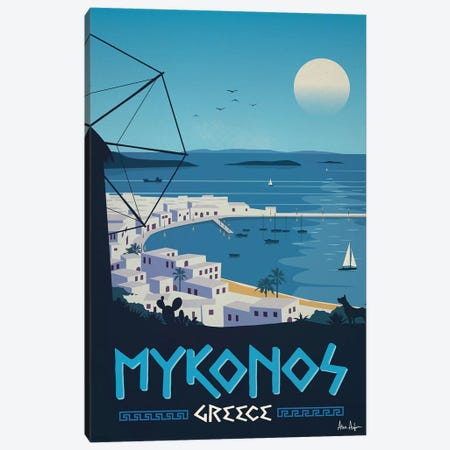 Mykonos Canvas Print #IDS42} by IdeaStorm Studios Canvas Art