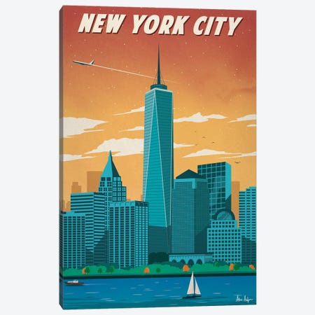 New York City II Canvas Print #IDS43} by IdeaStorm Studios Canvas Art