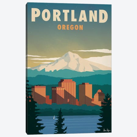 Portland Canvas Print #IDS45} by IdeaStorm Studios Canvas Print