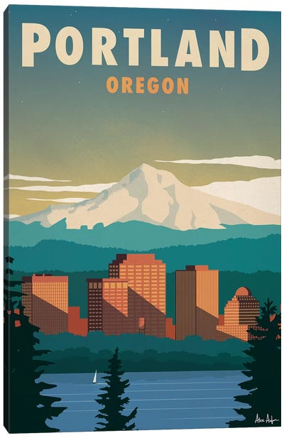 Portland Canvas Art Print