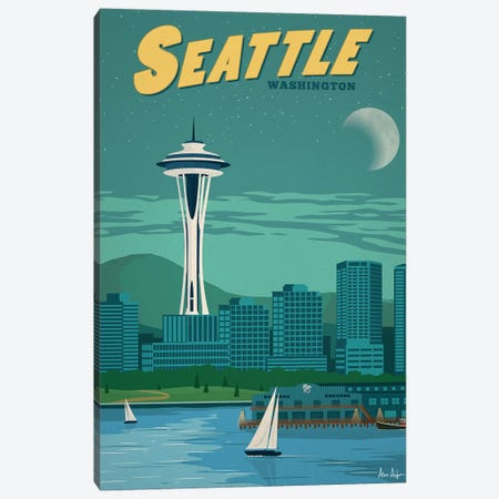 Vintage Seattle Canvas Print #IDS46} by IdeaStorm Studios Canvas Print