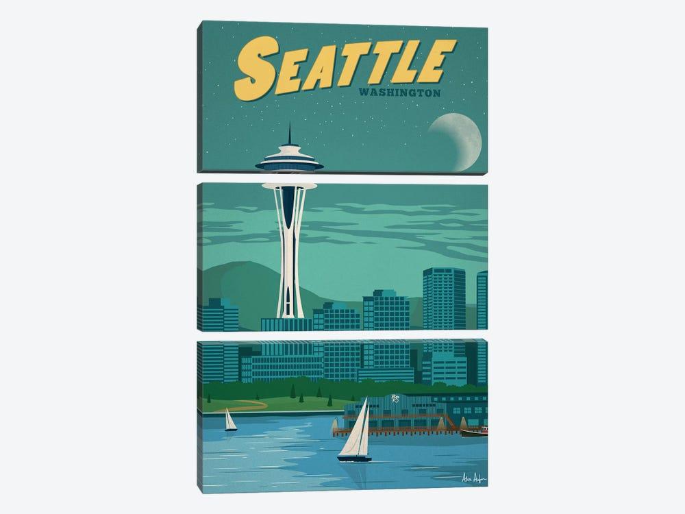 Seattle by IdeaStorm Studios 3-piece Canvas Wall Art
