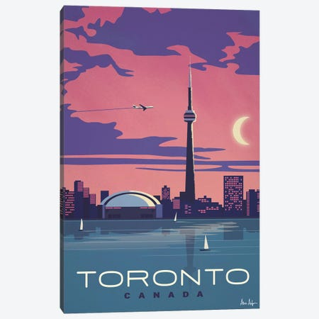 Toronto Canvas Print #IDS47} by IdeaStorm Studios Art Print