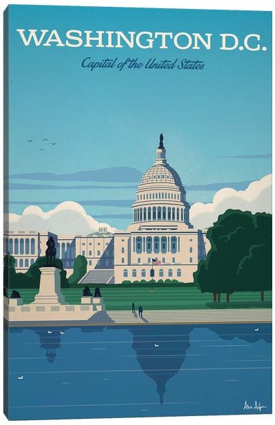 Washington D.C. Capitol Canvas Art Print