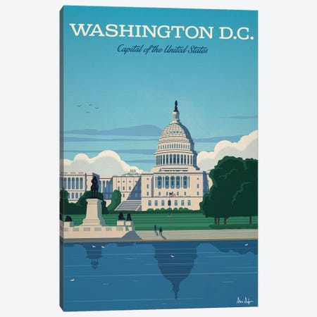 Washington D.C. Capitol Canvas Print #IDS49} by IdeaStorm Studios Canvas Artwork