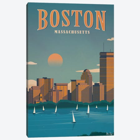 Boston Canvas Print #IDS4} by IdeaStorm Studios Canvas Wall Art