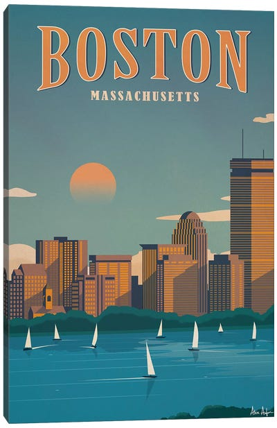 Boston Canvas Art Print
