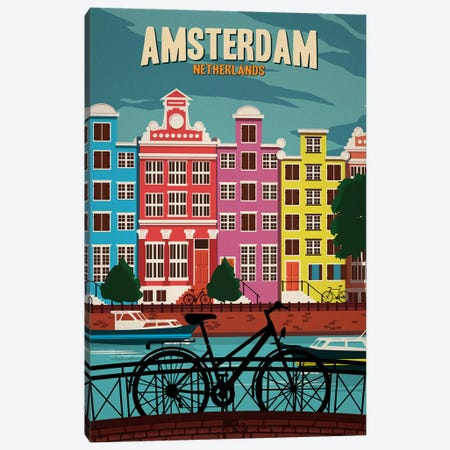 Amsterdam Canvas Print #IDS50} by IdeaStorm Studios Canvas Print