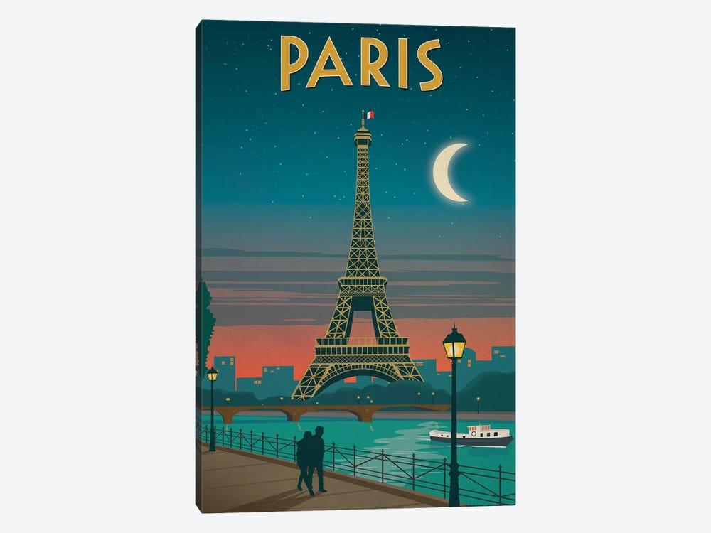 Paris Moonlight by IdeaStorm Studios 1-piece Canvas Artwork
