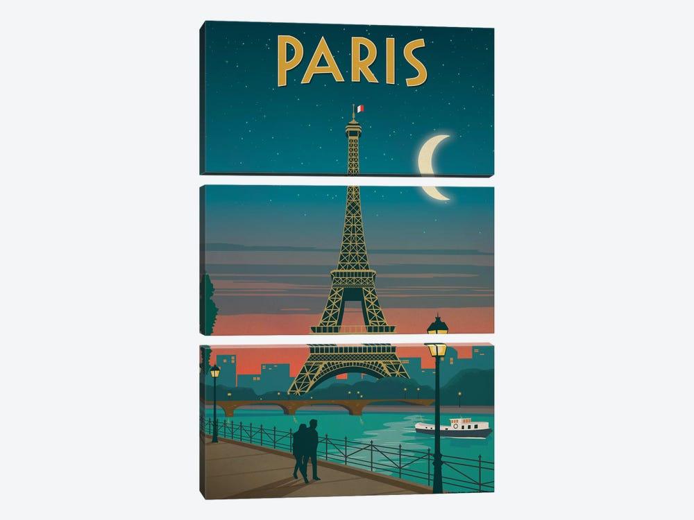 Paris Moonlight by IdeaStorm Studios 3-piece Canvas Wall Art