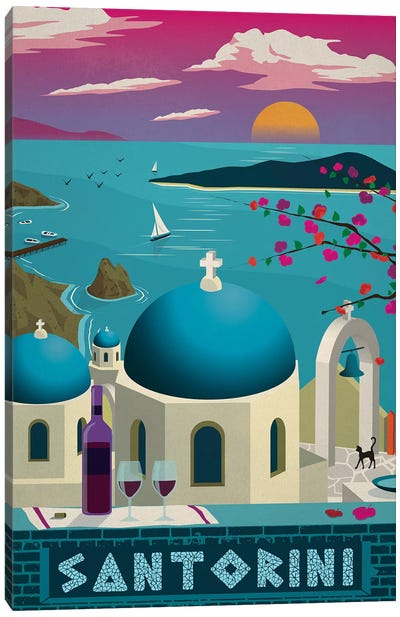Santorini Canvas Art Print