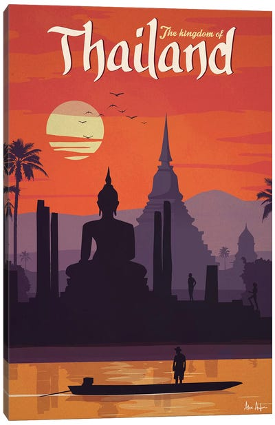 Vintage Thailand Canvas Art Print