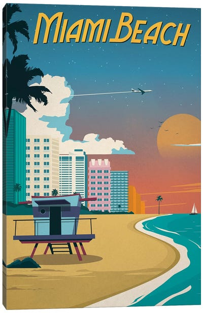 Miami Beach Canvas Art Print