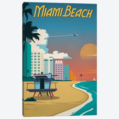 Miami Beach Canvas Print #IDS56} by IdeaStorm Studios Canvas Artwork