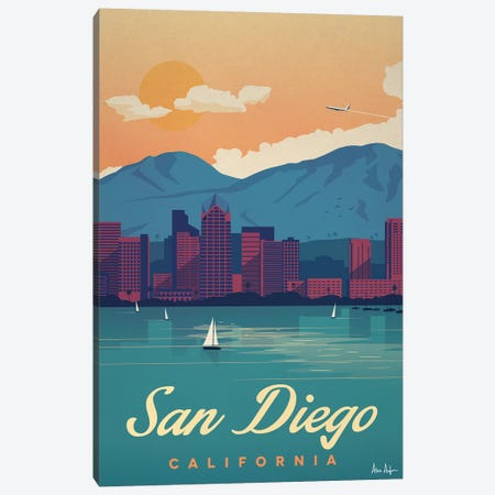 San Diego Canvas Print #IDS57} by IdeaStorm Studios Canvas Artwork