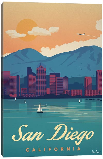 San Diego Canvas Art Print