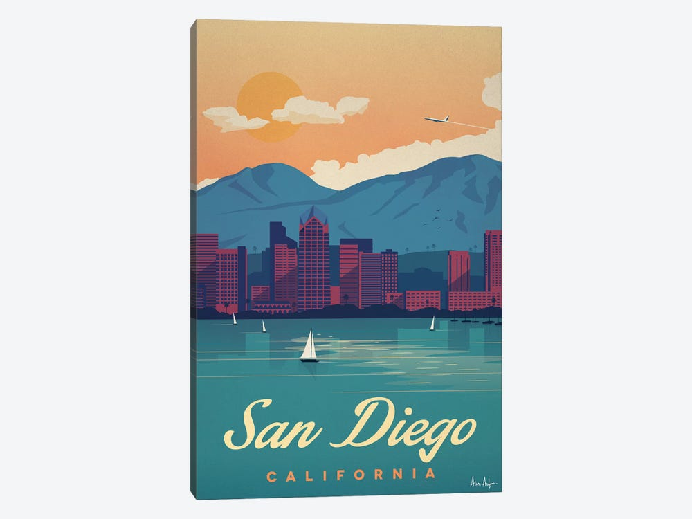 San Diego by IdeaStorm Studios 1-piece Canvas Artwork