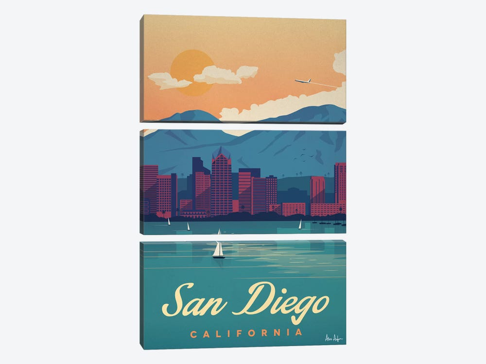 San Diego by IdeaStorm Studios 3-piece Canvas Wall Art