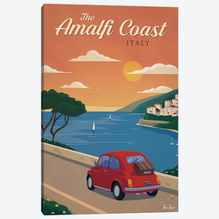 Amalfi Coast Canvas Print #IDS58} by IdeaStorm Studios Canvas Art Print