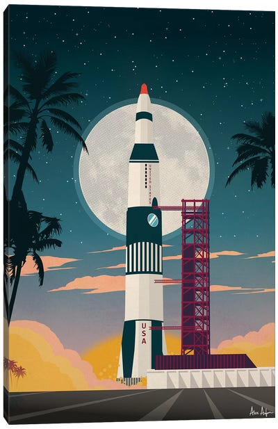 Cape Canaveral Canvas Art Print