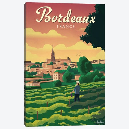 Bordeaux Canvas Print #IDS60} by IdeaStorm Studios Canvas Wall Art