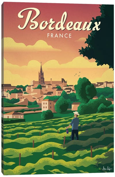 Bordeaux Canvas Art Print